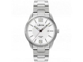 20 ATM Pánské hodinky se safírovým sklem LAVVU DYKKER Silver