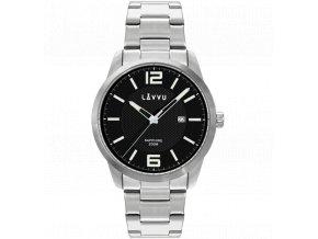 20 ATM Pánské hodinky se safírovým sklem LAVVU DYKKER Black