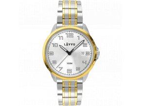 Stylové pánské hodinky LAVVU SORENSEN Gold