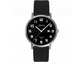 Extrémně lehké titanové hodinky LAVVU TITANIUM LYNGDAL Black