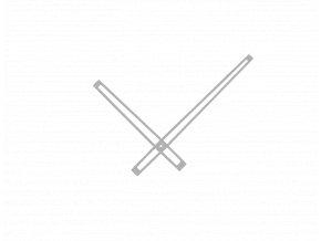 Stříbrné matné vyseknuté hliníkové ručičky na hodiny 168 mm | 118 mm