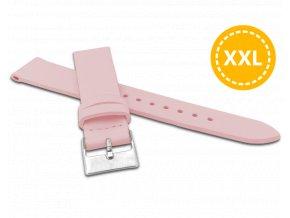 XXL Prodloužený růžový řemínek MINET z luxusní kůže Top Grain - 18 - XXL