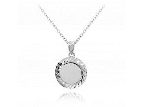 Broušený stříbrný náhrdelník MINET