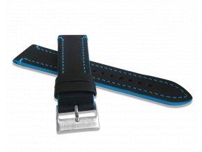 Modře prošitý řemínek LAVVU TAILOR z luxusní kůže Top Grain - 22