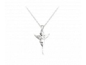Stříbrný náhrdelník MINET ANDÍLEK