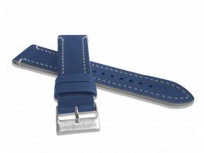 Modrý šedě prošitý řemínek LAVVU TAILOR z luxusní kůže Top Grain - 24