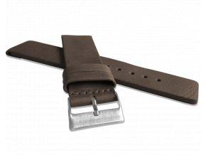 Tmavě hnědý hladký řemínek LAVVU PLAIN z luxusní kůže Top Grain - 26