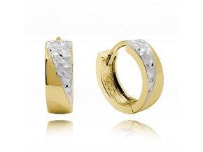 Luxusní stříbrné pozlacené náušnice MINET