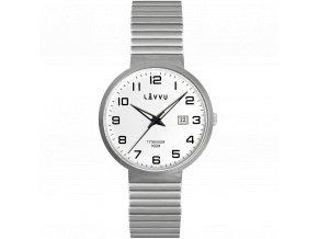 Titanové pružné hodinky s vodotěsností 100M LAVVU LUNDEN White