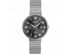 Titanové pružné hodinky s vodotěsností 100M LAVVU LUNDEN Black