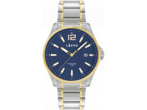 Pánské hodinky se safírovým sklem LAVVU NORDKAPP Bicolor Blue