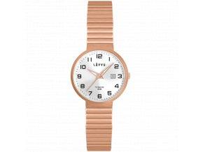 Titanové pružné hodinky s vodotěsností 100M LAVVU LUNDEN Small Rose Gold