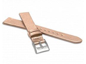 Rose gold řemínek MINET z luxusní kůže Top Grain - 18