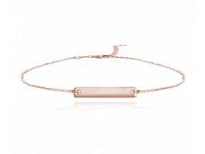 Rose gold stříbrný náramek MINET ENGRAVE - pro gravírování