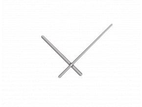 Stříbrné oblé hliníkové ručičky na hodiny 158 mm | 113 mm