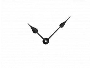 Černé klasické hliníkové ručičky na hodiny 73 mm | 53 mm