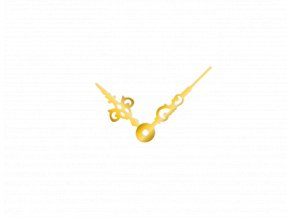 Střední zlaté hliníkové ručičky na hodiny Antik 43 mm | 32 mm