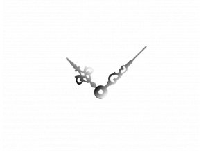 Střední stříbrné hliníkové ručičky na hodiny Antik 43 mm | 32 mm