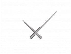 Stříbrné zúžené hliníkové ručičky na hodiny 215 mm | 130 mm