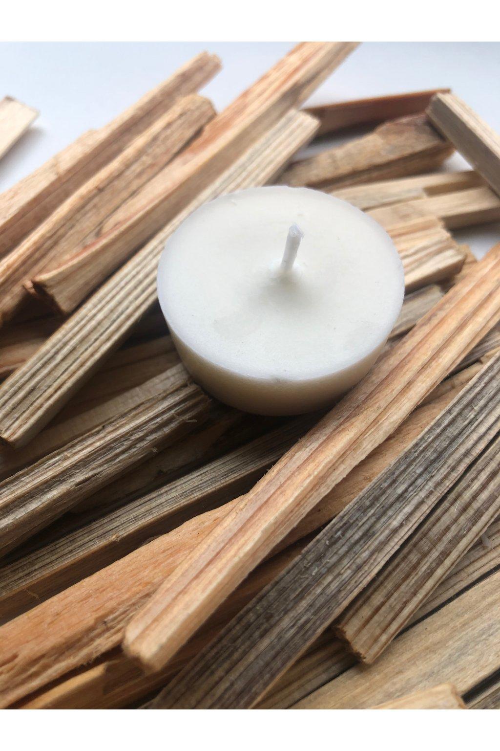 Čajové sójové svíčky, bez aromatizace