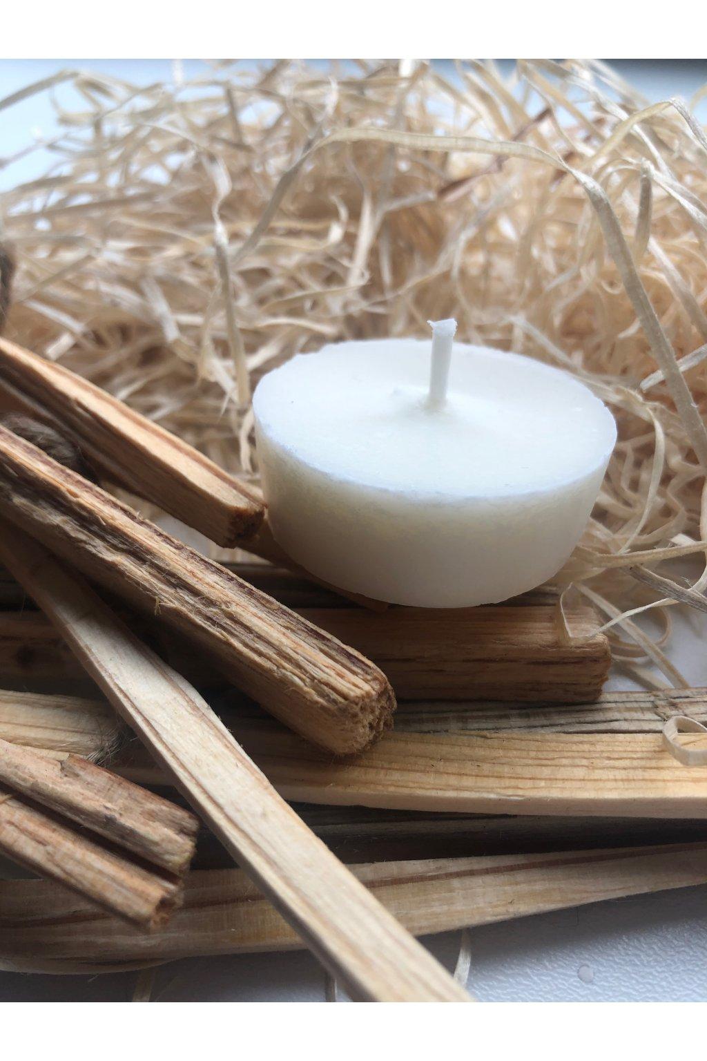 Čajové sójové svíčky, aromatizované