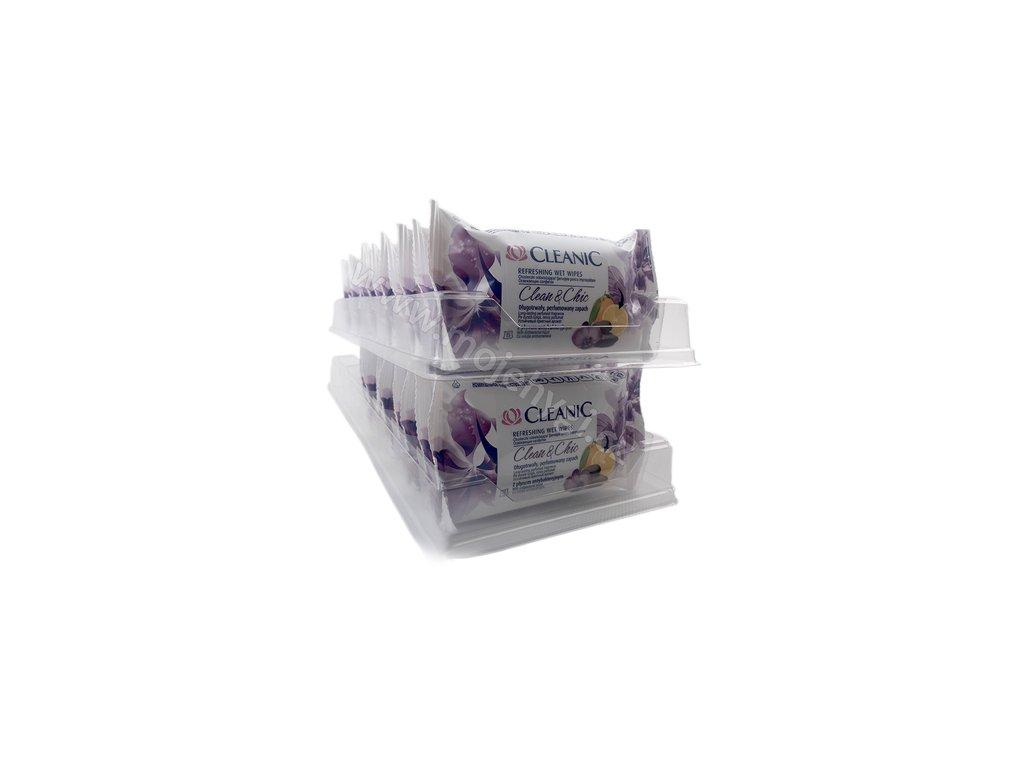 Cestovní vlhčené ubrousky Cleanic (clean & chic) s antibakteriální přísadou - 24x15 ks