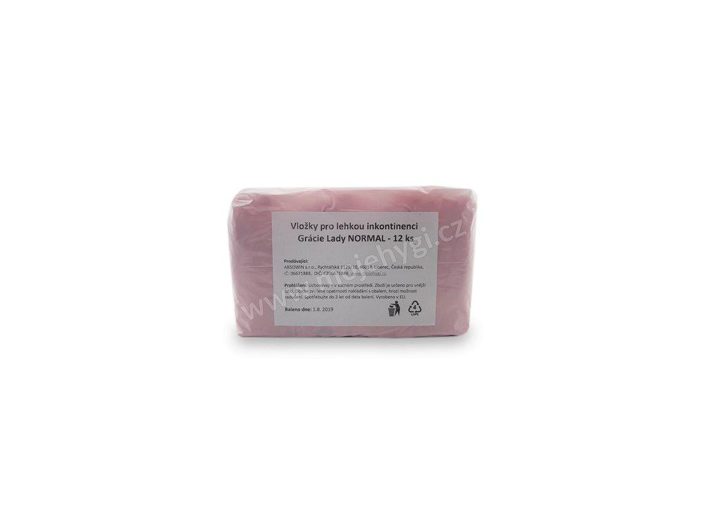 Vložky pro lehkou inkontinenci Grácie Lady NORMAL - 12 ks