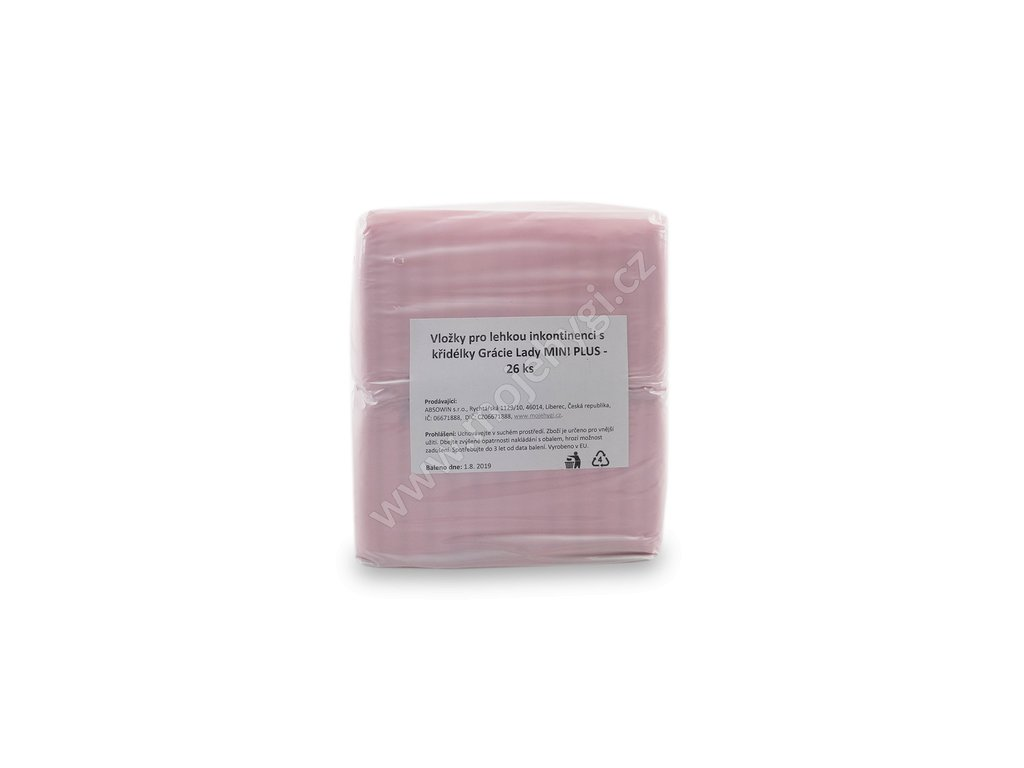 Vložky pro lehkou inkontinenci Grácie Lady MINI PLUS - 26 ks