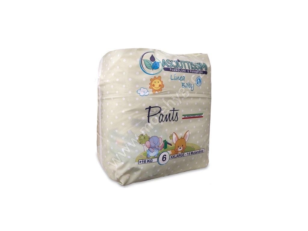 Dětské kalhotkové plenky Asciuttissimi XX-LARGE (16+ kg) - 14 ks