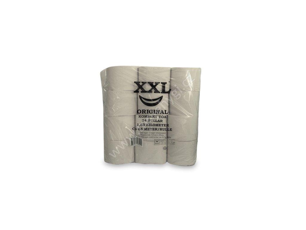 Toaletní papír XXL bělený recyklovaný 2vrstvý II. jakost - 24 ks