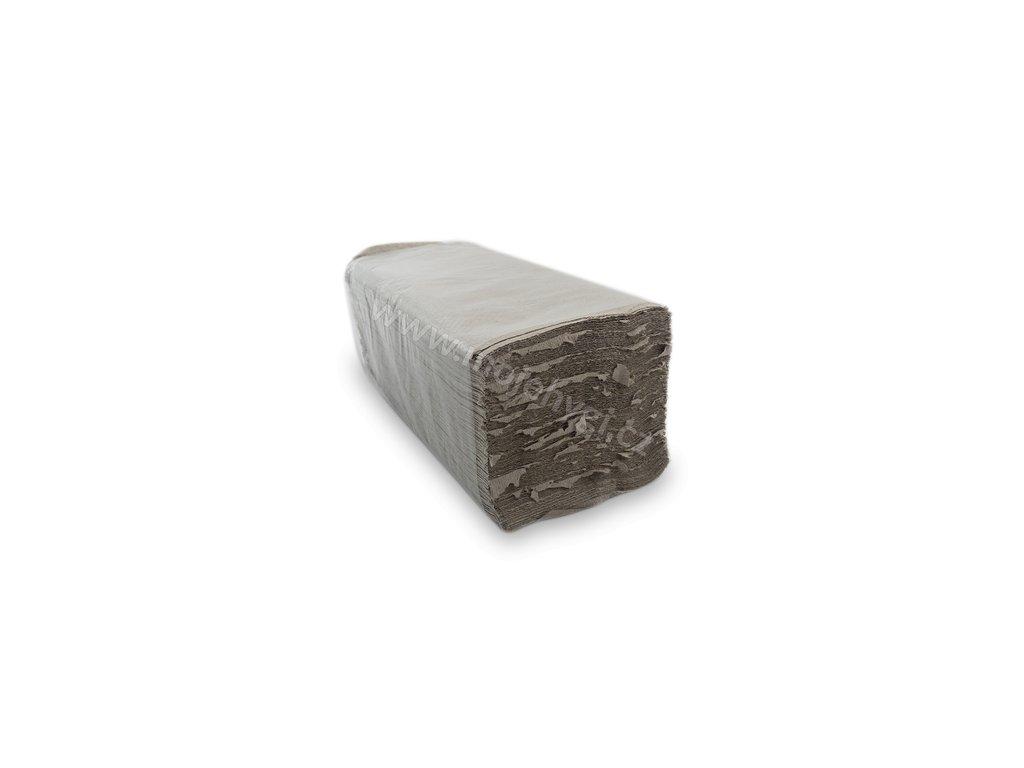 Papírové skládané ručníky ZZ recyklované šedé II. jakost