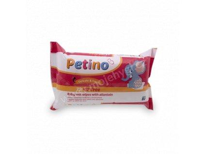 Vlhčené ubrousky Petino - 72+12 ks