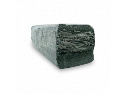 Papírové skládané ručníky ZZ recyklované zelené II. jakost