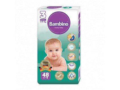 Dětské plenky Bambino MIDI (4-9 kg) - 48 ks