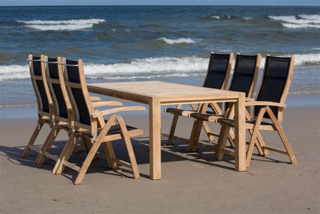 CALDO Teakové stoličky a lehátko