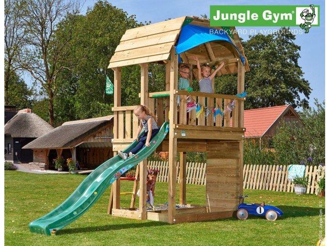 Jungle Barn veža s tmavozelenou šmýkačkou