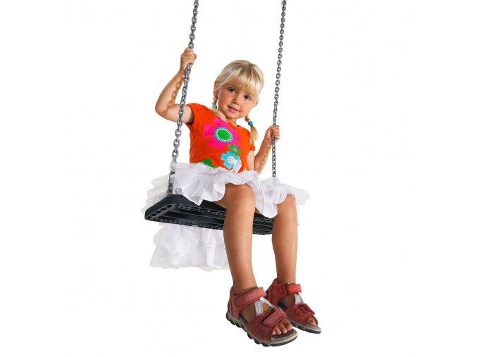 Gumová hojdačková sedačka BASIC 1 bez reťaze
