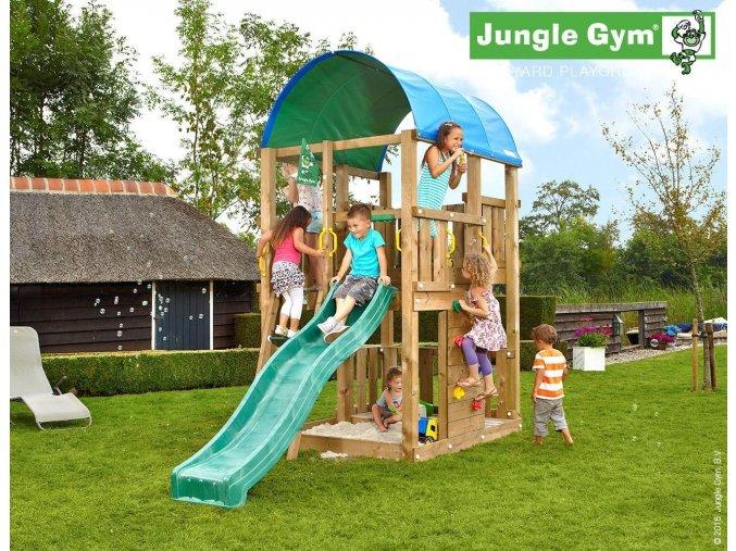 Jungle Farm veža s tmavozelenou šmýkačkou