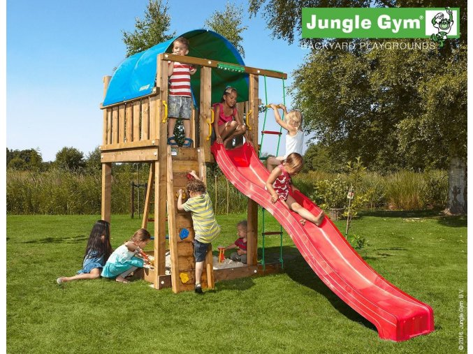 Jungle Villa s červenou šmýkačkou