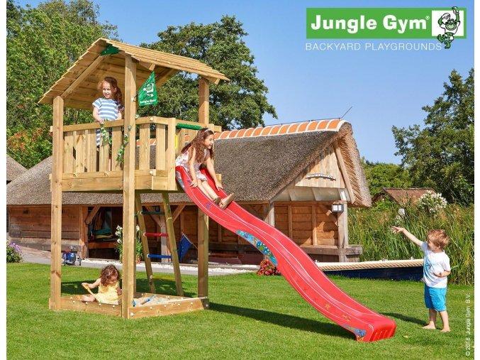 Jungle Shelter veža s červenou šmýkačkou