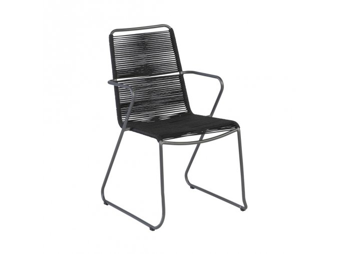 exotan slimm steel armchair black rope textilene 143822