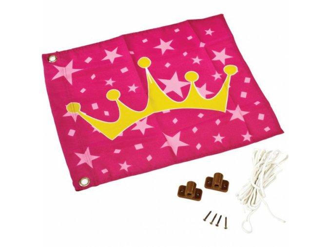 Vlajka so vztyčovacím zariadením - princezna