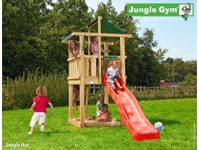 Jungle Hut veža s červenou šmýkačkou