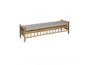 exotan design gartenbett bamboo loungeliege bambus 201x132cm~3