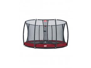 BERG Elite InGround Red/Green/Grey + Safety Net Deluxe