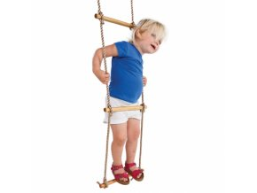 wooden rope ladder light