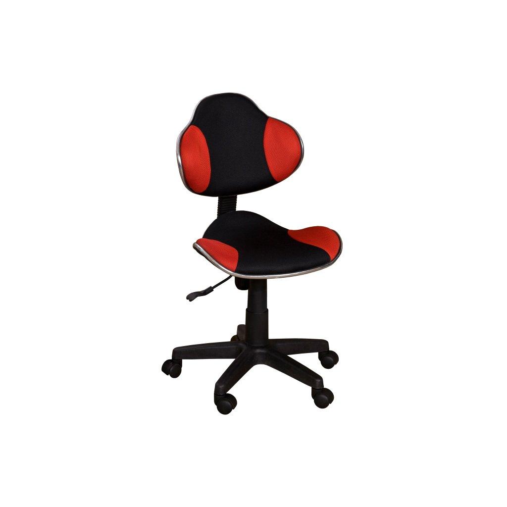 Stolička QZY-G2 čierno červená