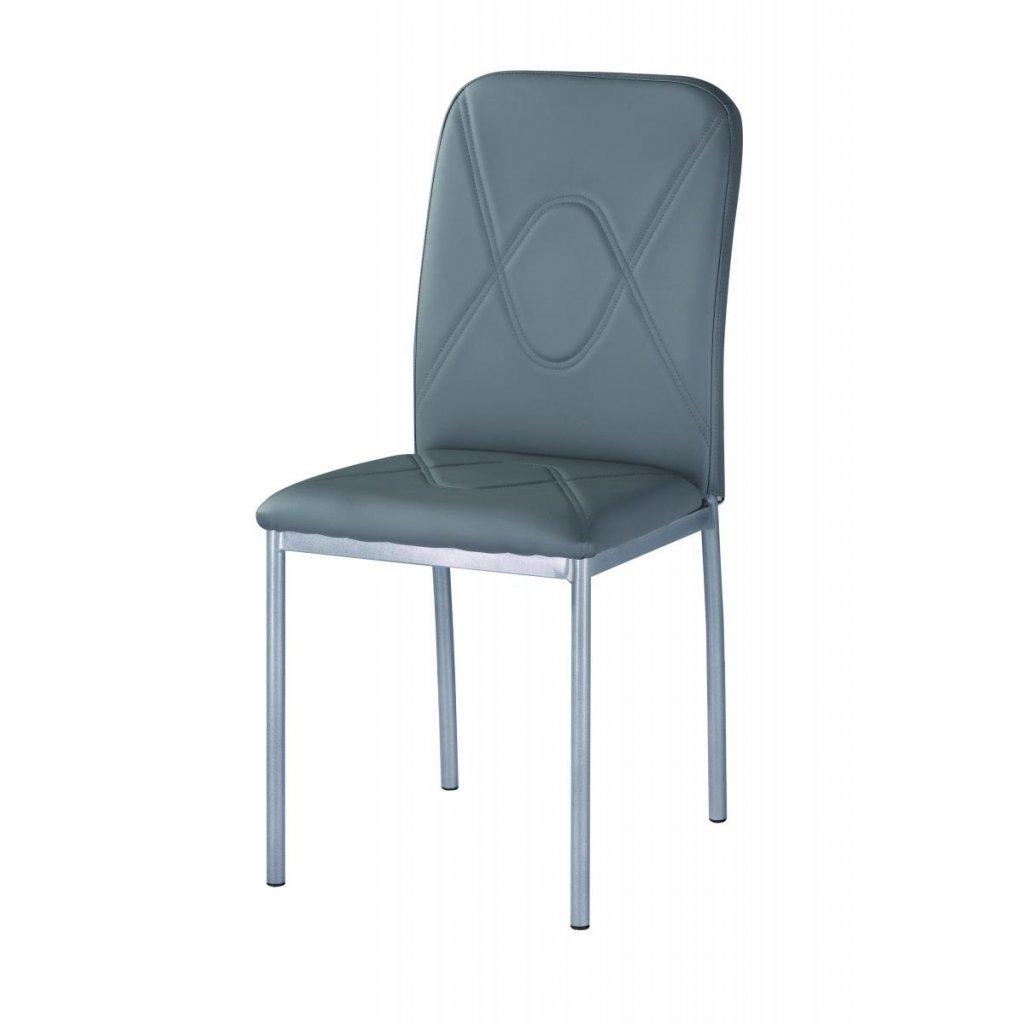 Jedálenská stolička F-623 sivá