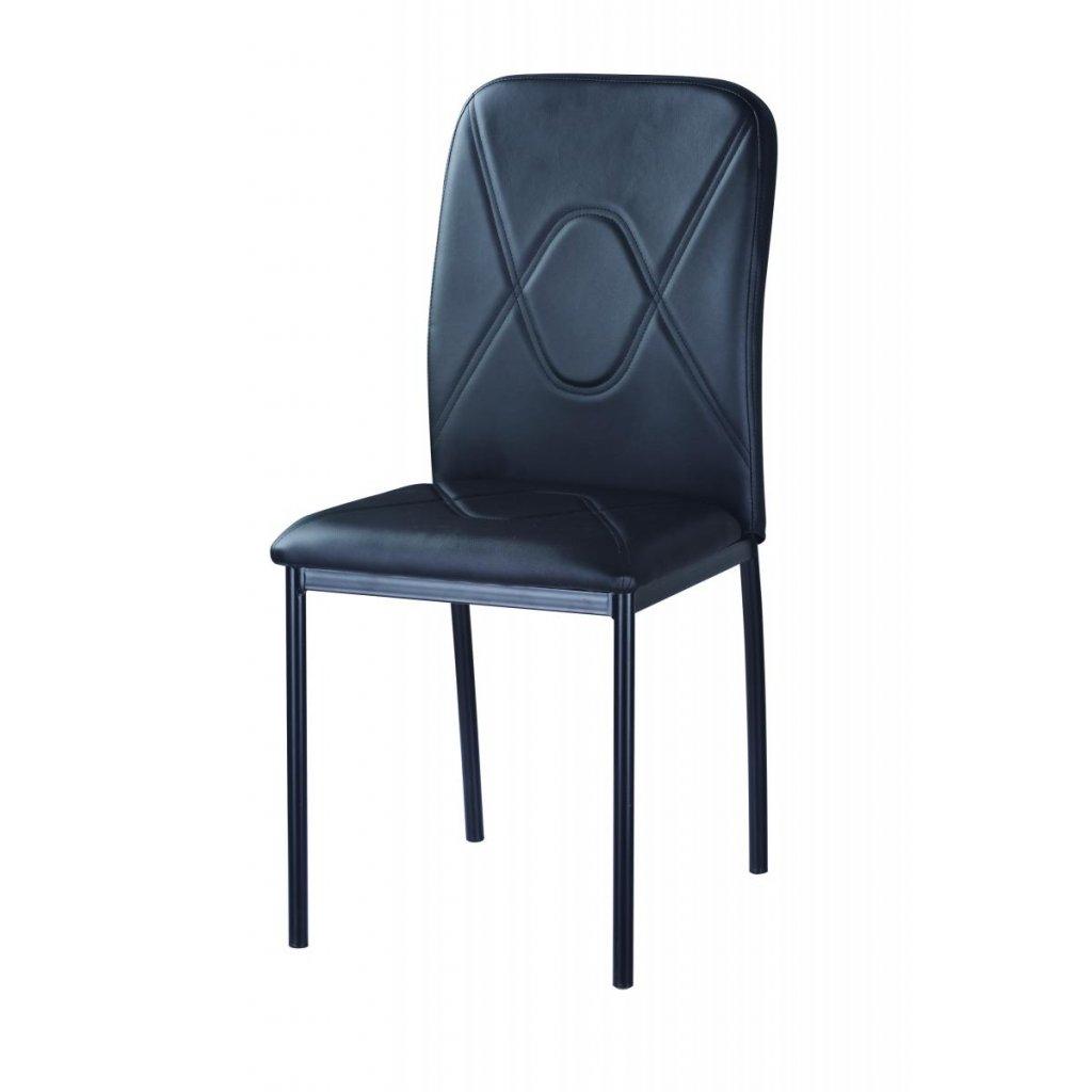 Jedálenská stolička F-623 čierna