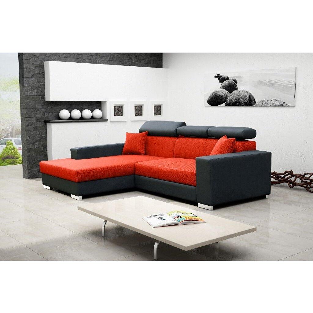 Sedacia súprava Mexicana Lux L oranžová / EKO čierna